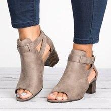 Женские босоножки с открытым носком черные туфли лодочки на