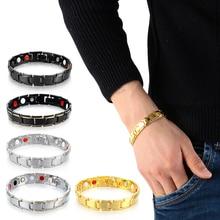 Healing Bracelet Magnetic Bangle Men's And 5-Colors Detachable American European