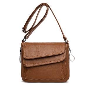Image 2 - Zima biała torebka miękka skóra luksusowe torebki damskie torebki projektant kobiet torba na ramię torby dla mam dla kobiet 2020