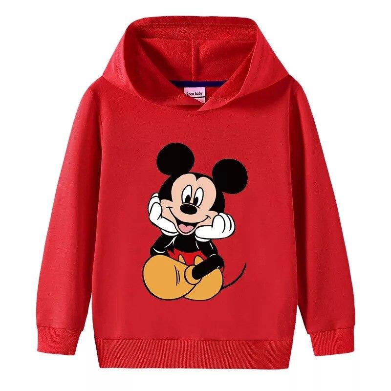 Disney с Микки Маусом для маленьких мальчиков с принтом в виде мышки толстовки с капюшоном и свитера с рисунками из мультфильмов с капюшоном для детей ясельного возраста, для девочек Детская одежда; Топы|Толстовки и кофты| | АлиЭкспресс
