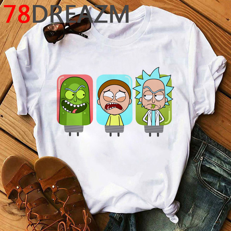 Rick And Morty Season 4 T Shirt Women Funny Cartoon Ricky Morty Pickle 2020 90s Kawaii Tshirt Grunge  Hip Hop Top Tees Female