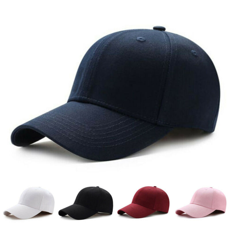 Unisex Men Women Solid Color Baseball Cap Plain Korean Fashion Simple Hats Hip-Hop Adjustable NEW