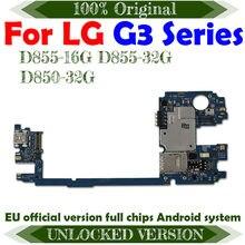Placa base Original desbloqueada para LG G3 D855, 16GB con Chips para LG G3 D850 D855 D852, 32GB con OS Android