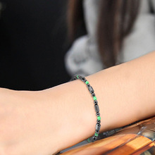 NJ  Nature Lodestone Men Black Green Beaded Bracelet Magnetic Charm Delicate Strand Jewelry For Woman Handmade Accessories Gift