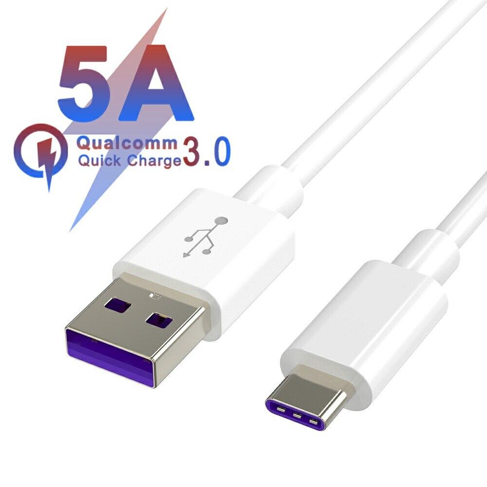 5A супер быстрое зарядное устройство USB кабель для передачи данных 3,1 Тип C кабель 3 м 2 м 1 м QC3.0 для samsung S10 S9 huawei P30 PRO Коврики 20 кабель передачи да...