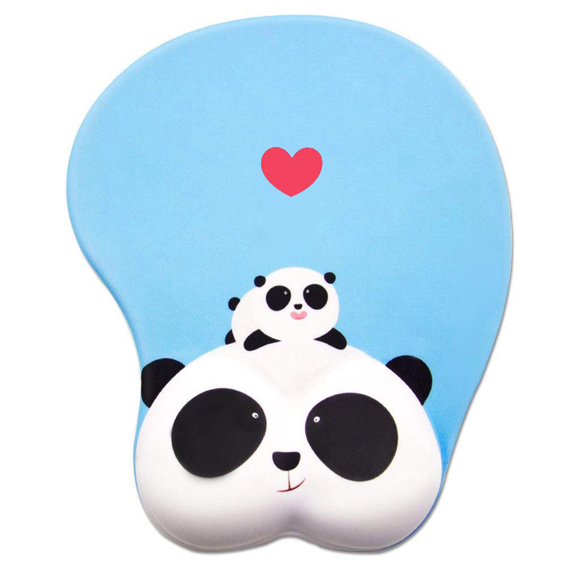 NAJODA Anime Panda 3D Mouse Pad Ergonomic Soft Silicon Gel Gaming Mousepad With Wrist Support Animal Mouse Mat For PC Mac