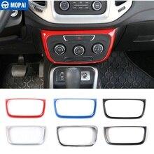 MOPAI Interruptor de Control de aire acondicionado para Interior de coche, pegatinas de decoración para Panel de aire acondicionado para Jeep Compass 2017 Up, decoración para coche