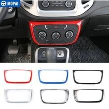 MOPAI autocollants de décoration pour panneau de commande de climatisation intérieure de voiture, pour Jeep Compass, 2017 Up, stylistique