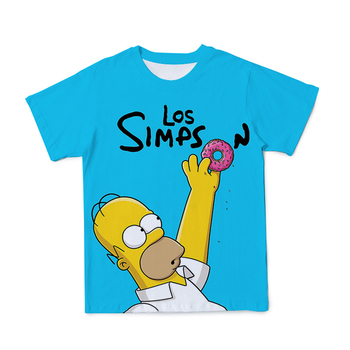 2021 New Summer T-Shirt Men Clothing All Ages【Simpson】Short Sleeve  1