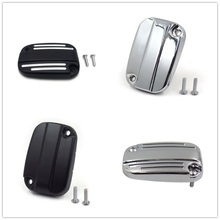 Aftermarket free shipping motorcycle parts  Groove Clutch Master Cylinder Cover For Harley 06-17 VRSC 14-16 Touring Black chrome цена 2017