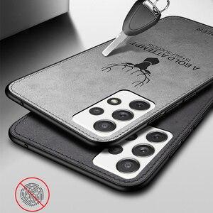 Image 4 - עור מרקם TPU PC Case עבור סמסונג גלקסי A52 A72 5G S21 הערה 20 במיוחד S20 בתוספת A32 A42 5G A12 A51 A71 דפוס חום בהיר כיסוי