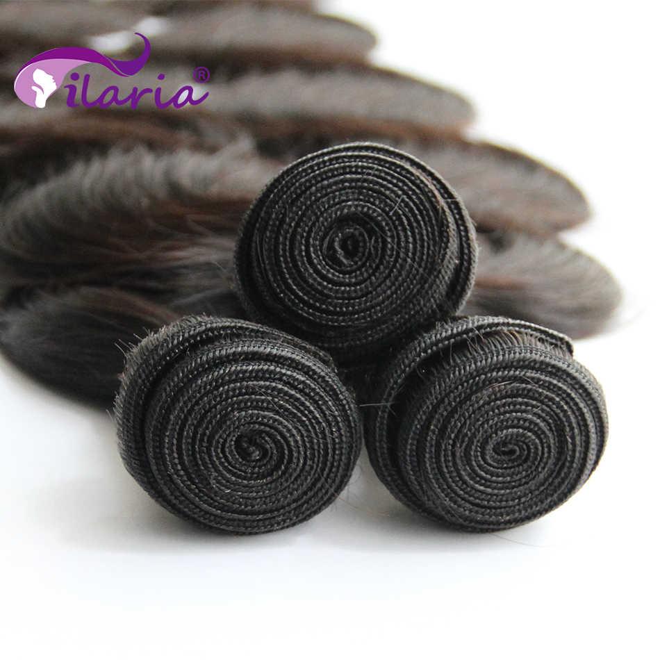 ILARIA الجسم موجة ضفيرة شعر برازيلي حزم 100% حزم الشعر البشري 3 4 حزمة 30 32 34 36 38 40 بوصة حزم غير ريمي