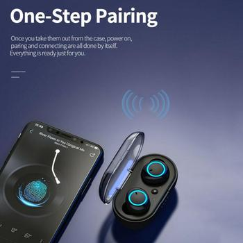 Y50 TWS Bluetooth Earphone Wireless Headphone Stereo Headset Sport Earbuds Microphone With Charging Box For Smartphone 6