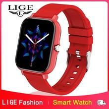 LIGE 2021 Fashion Smart Watch Men Fitness Bracelet Heart Rate Blood Pressure Monitoring Sports Tracker Smartwatch Gift for Women
