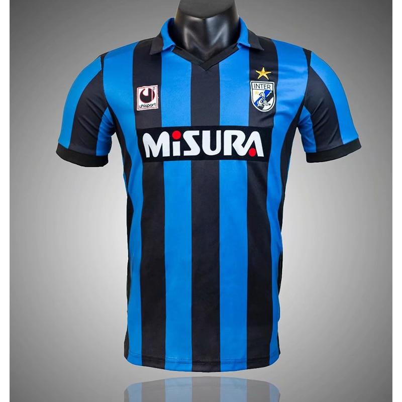 1988 1990 Retro Inter Milan|Camisetas de fútbol| - AliExpress