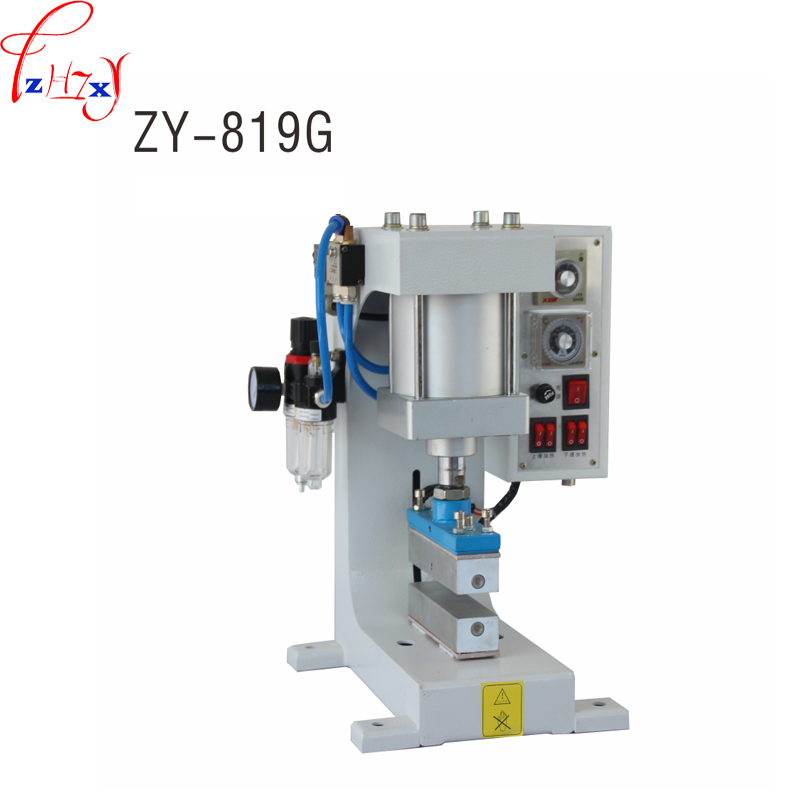 Pneumatic Hot Foil Stamping Machine ZY 819 G Heat The Bronzer Up And Down For The Surface Of Leather Products 110/220V 1PC|Machine Centre| |  - title=
