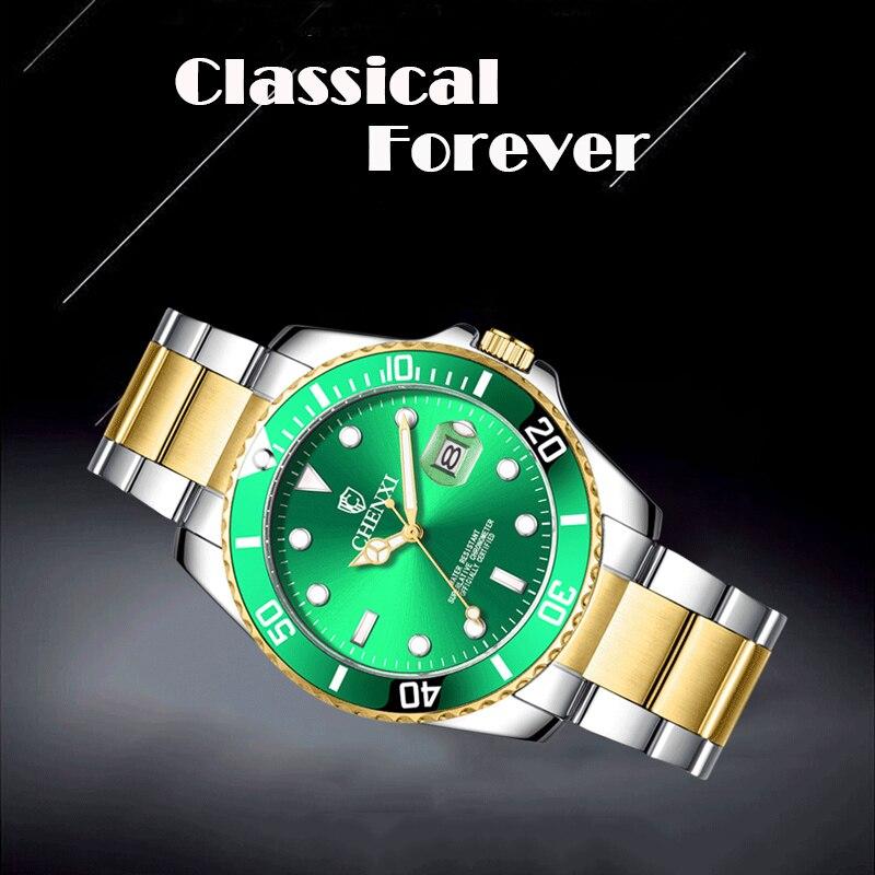 CHENXI Business Mans Quartz Watches Men Woman Couple WristWatches Waterproof Stainless Steel Wrist Watch Brand Luxury Clock