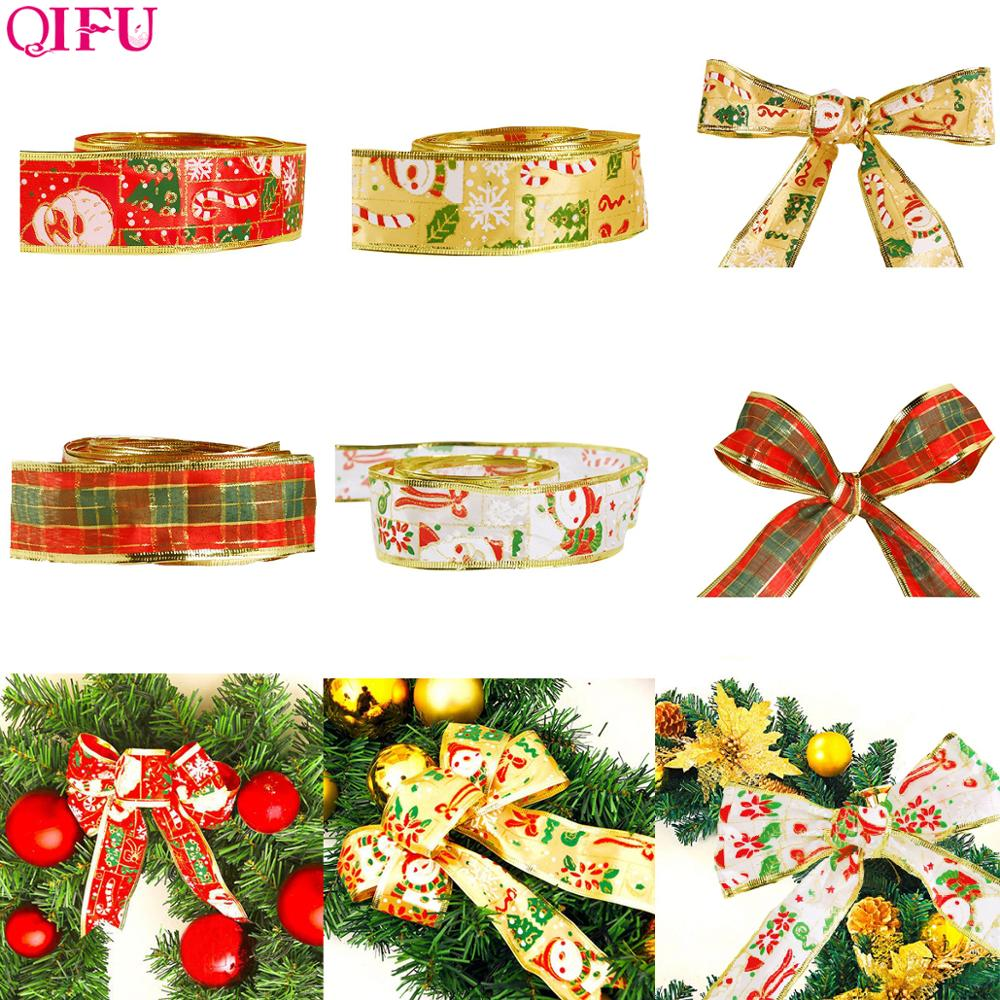 QIFU Merry Christmas Gift Wrapping Ribbon Ornaments Decorations For Home 2019 Natal Xmas Tree New Year