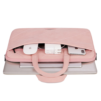 Cute Pink Laptop Sleeve Bag For Female With Free Extra Mouse Bag 1