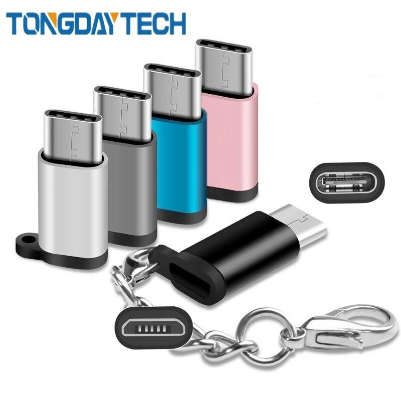 Tongdaytech USB 3.1 Type C Adapter OTG Micro USB Female To Type C Male Converter For Samsung S8 S10 LG G5 G6 Nexus 5X Pixel 2XL