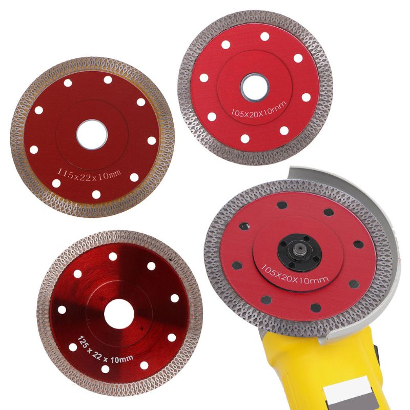 Red Hot Pressed Sintered Mesh Turbo Ceramic Tile Granite Marble Diamond Saw Blade Cutting Disc Wheel Bore Tools D08F