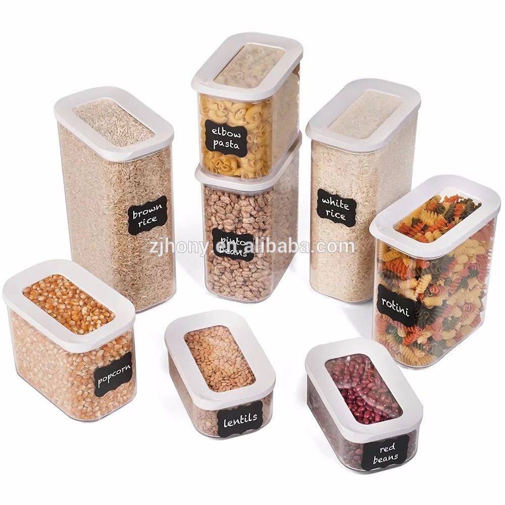 Sunroof Sealed Cans Square Transparent Plastic Sealed Cans Food Cans 0.45L 1.0L 1.5L 2.0L Storage Tank Kitchen Storage Container
