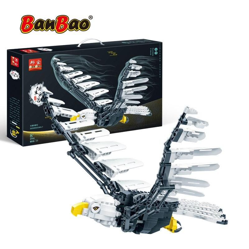 BanBao Bionic animal Roc model technic MOC RC building blocks Hedwig 75979 bricks Toys For boy children Educational Toys Gifts