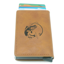 Fashion Casual  Fishing  Rfid Card Holder Men Wallets Brown Short Purse Leather Slim Wallets Mini Wallets wallets href
