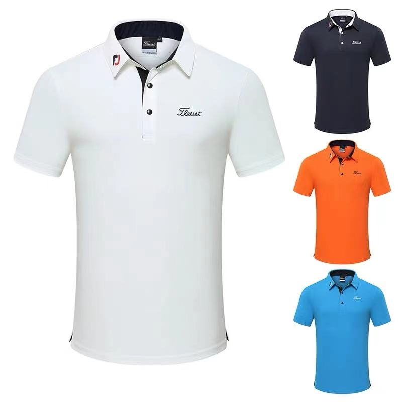 Men's golf clothing short-sleeved T-shirt outdoor sports breathable quick-drying tops jerseys summer 2021