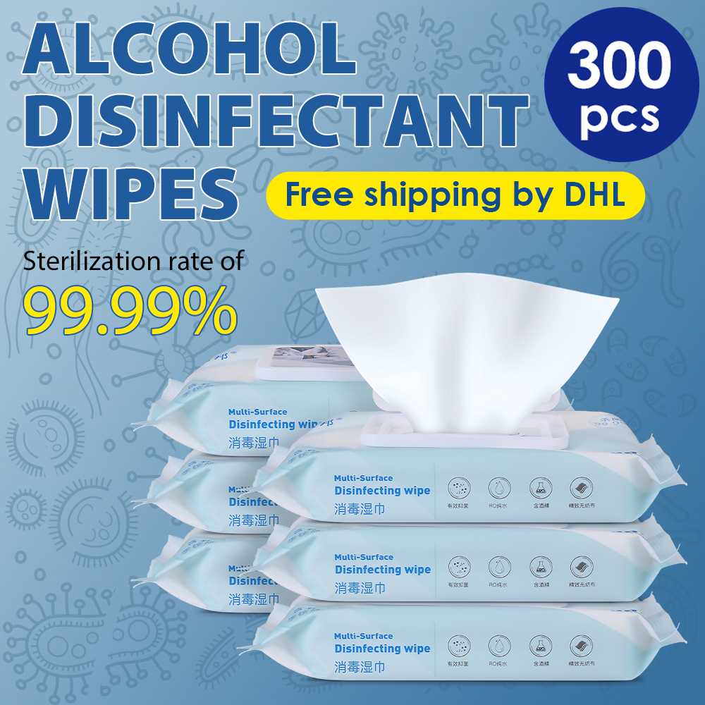 75% Alcohol Disinfection Wipes Alcohol Pads Disposable Wipes Disinfectant Bacteria Hand Wipes Skin Cleaning Sterilization