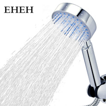 EHEH Five Function Shower Head With Chrome Silica Gel Holes Water Saving Showerhead Rainfall Round Handheld Shower zhangji five fuction silica gel holes shower head water saving with chrome showerhead bathroom sprinkler nozzle two colors