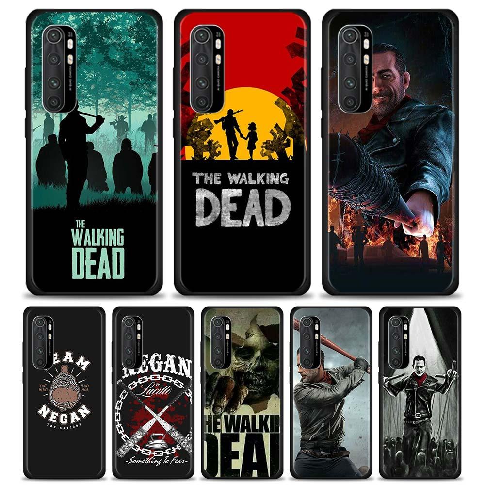 Funda de teléfono para Xiaomi-funda blanda de The Walking Dead para móvil, carcasa suave, para Mi Note 10 Lite 10 Pro 5G 9 SE 9T Pro 8 Lite A1 A2 Lite A3 CC9 CC9E