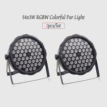 2 блока/лот 54X3W RGBW светодиодный светильник Par DMX512 светодиодные лампы контроллера светильник s, диско светильник s DJ оборудование