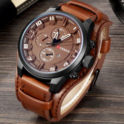 CURREN 2020 Top Brand Luxury Mens Watches Male Clock Date Sport Military Leather Strap Quartz Business Man Watches Dropshipping
