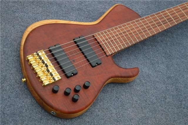 Custom shop 7 strings bass guitar - gold hardware  1