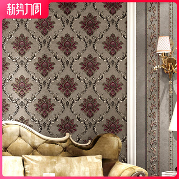 Stereo Household Bedroom Big Flower Engineering Wall Luxury China 3D Glorious Television European Style Wallpaper Top Grade Wall