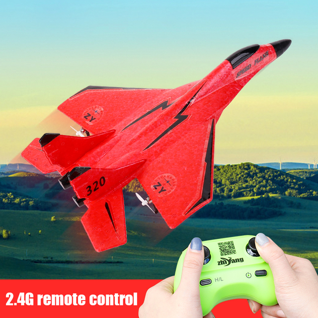 320 Beginner 2.4G Remote Control EPP Materal Glider Hand Throwing Foam RC Airplane 150M Remote Outdoor RC Plane Boys Toy 6