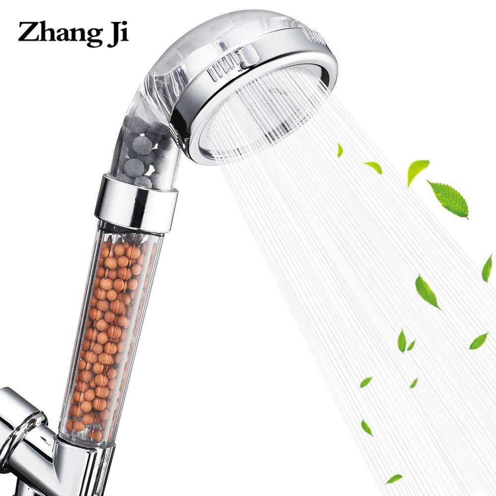 ZhanJii Filter Shower Head Water Saving 80mm Large Panel Filter Shower Head Anion SPA Handheld Shower Head  High Pressure ABS
