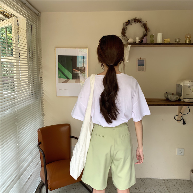 Hdedc00bfa551405d891b7e40b6ec19d8r - Summer High Waist Wide Leg Loose Solid Shorts