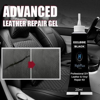 Черное усовершенствованное средство для ремонта кожи, 20 мл, гелевое автомобильное сиденье, дополнительная цветная паста для ремонта, аксессуары для автомобиля Tslm1 Средство для чистки кожи и обивки      АлиЭкспресс