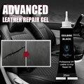 Черное усовершенствованное средство для ремонта кожи, 20 мл, гелевое автомобильное сиденье, дополнительная цветная паста для ремонта, аксес...