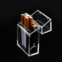 INS Wind Waterproof Clear Acrylic Cigarette Case Box Transparent Bag Lighter Storage Portable Club Travel