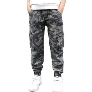 Image 1 - Abesay Herbst Camouflage Hose Für Jungen Casual Jungen Hosen Lose Kinder Hosen Winter Teenager Jungen Kleidung 6 8 12 Jahre
