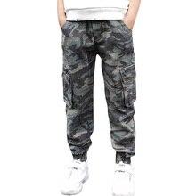 Abesay sonbahar kamuflaj pantolon erkek rahat erkek pantolon gevşek çocuklar pantolon kış genç erkek giyim 6 8 12 yıl