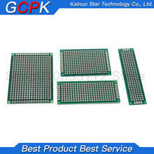 free shipping 4pcs 5x7 4x6 3x7 2x8 cm double sided Copper prototype pcb Universal Board PCB KIT