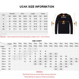 Image 5 - UCAK marka poliester prosta koszula mężczyźni 2020 Trend w modzie golf casual wiosenna jesień Streetwear New Arrival T shirt U1036