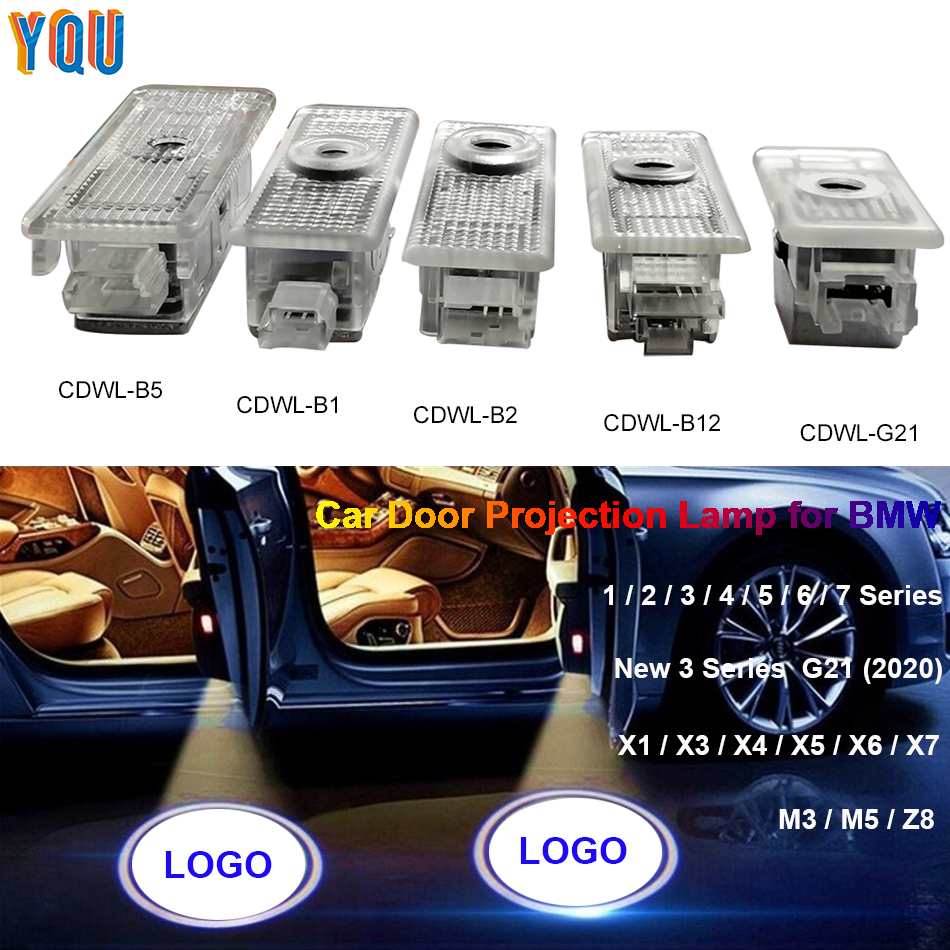E90 E46 E63 F36 F07 E92 X5 F15 E39 E53 F11 F20 LED Car Door Projector Light G30 F01 F31 E60 F10 F45 Auto Luces Para Logo For BMW