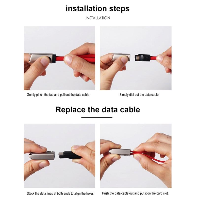 Ключевая цепь микро USB Тип C кабель быстрой зарядки кабель для Samsung Note10 компания Huawei S10 для зарядное устройство USB С Typec брелок шнур короткий кабель