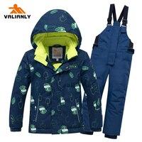 2019 Winter Kids Ski Suit Children Boys Snow suit Waterproof Kids Ski Jacket Pants 2 Pieces Ski Sets Boys Clothes Outdoor 30C