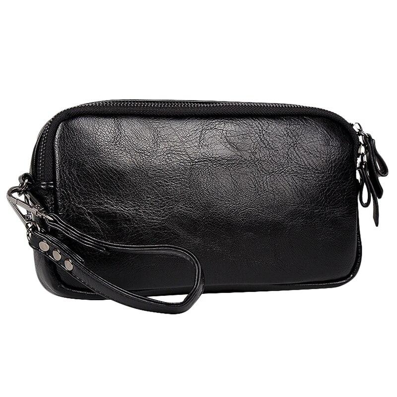 New Listing Casual Men Leather Bag Clutch Wallets Purse Unisex Women Handbag Phone Bag